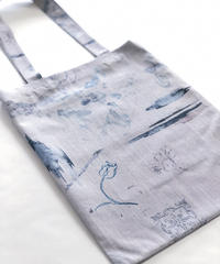 rusty blue  tote bag <20ss-ac-03>