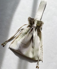 flow of time drawstring bag <21sp-ac-03>