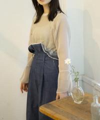 soft denim wide pants
