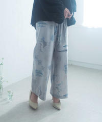 rusty blue  double ribbon wide pants ( blue ) <20ss-pt-01-bl>