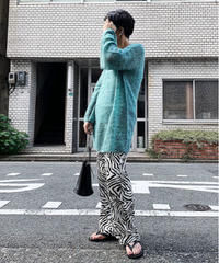 【special price】flare sleeve moheir knit  (green)