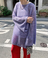 【special price】flare sleeve moheir knit (lavender)