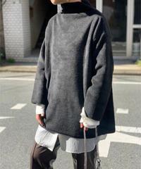 【stock sale】fleece turtle pullover (black)