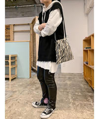 【予約商品】drawstring bag (zebra  S)