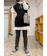 damege big knit vest (black)