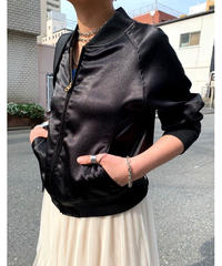【special price】shiny compact blouson (black)