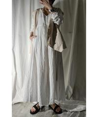 gauze maxi-dress (off white)