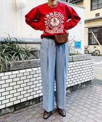 【予約商品】tuck pants (sax)