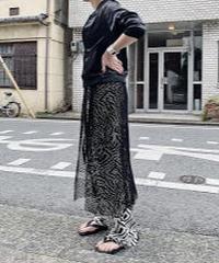 mesh wrap skirt  ( black )