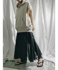 organdy gather skirt  (black)