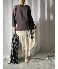damage knit(brown)