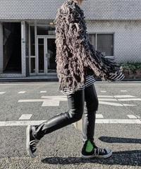 fake leater  pants (black)