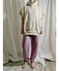 hoodie vest  (smoke beige)