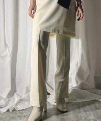 center seam side slite pants (ivory)