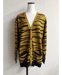 intarsia knit cardigan (mustered)