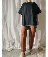 stitch big T-shirt  (black)