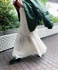 organdy gather skirt  (ivory)