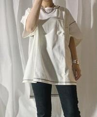 stitch big T-shirt  (off white)