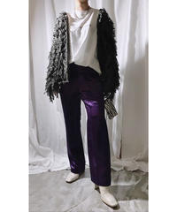 satin pants (purple)