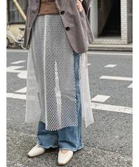 【追加生産:予約販売】mesh wrap skirt  (off white)