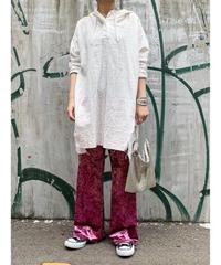 【予約販売】gauze damage hoodie   (off white)