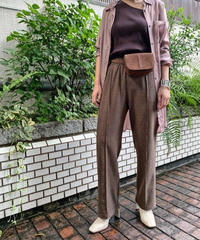 Tweed-like pants  (brown)