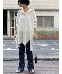 【pre fall】gauze damage hoodie   (off white)