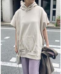hoodie vest (sand beige)