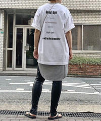 【pre fall】back print T-shirt (white)