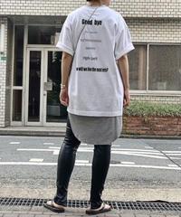 【pre fall】back print T-shirt (white)