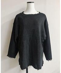 damage knit(black)