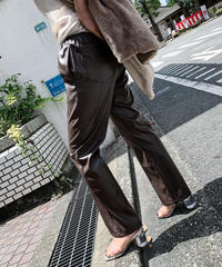 fake lather pants (brown)