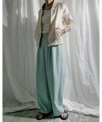 【予約商品】tuck pants (mint)