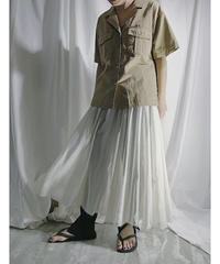 organdy gather skirt  (ivory)