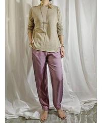 linen knit pullover   (sand beige)