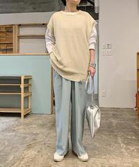 damege big knit vest (ivory)