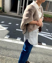 【先行予約販売】eco fur bolero   (graige)  ★new color★