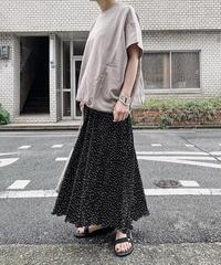 【ottilie】dot pleated pants (black)
