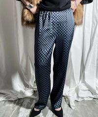 checker easy pants(blue)