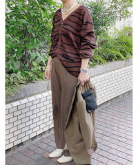 intarsia knit cardigan (brown)