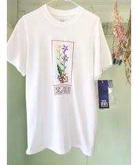 《SAU(左右)》花のワークショップTシャツ/(おまけ缶バッチとステッカー付き)