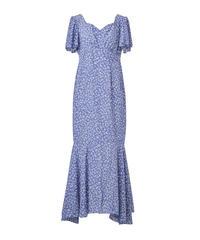 summer dress-blue flower-