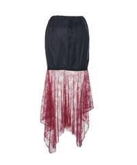 inner lace skirt -asymmetry-