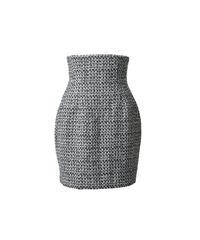 corset tweed mini skirt