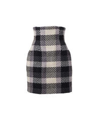 corset wool mini skirt