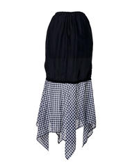 inner asymmetry skirt-checkered-