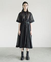 S003 [1/2] HALF - Pleats Skirt Shirt Dress