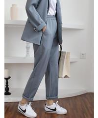 夏桜* カジュア スーツ 9分 ゆったり ウエスト パンツ ns190805-64