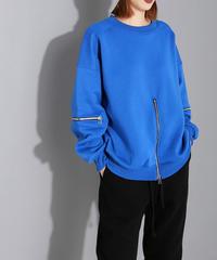 夏桜*ユニークなデザイン クールなジッパー セーター T-シャツ ns191221-001