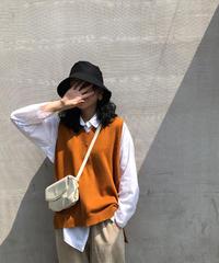 夏桜*Vネックノースリーブ ニット ベスト ns190805-03